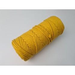 Sznurek skręcany 2mm żółty