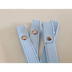 Uchwyty do torebki błękitne