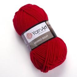 Merino Bulky 156 czerwony